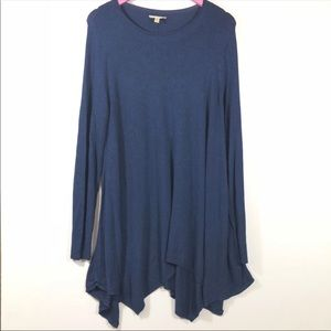 Eileen Fisher Bonnet Blue Round Neck Sweater Tunic